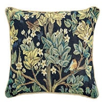 William Morris Tree of Life Pillow Cover and Insert - Blue
