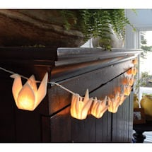 Origami Cranes Decorative Light String