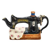 Vintage Sewing Machine Teapot
