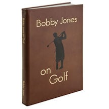 Leather-Bound Bobby Jones on Golf Leather Book (without initials)