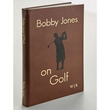 Leather-Bound Bobby Jones on Golf Leather Book with Initials