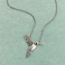 Silver Spoon Hummingbird Pendant