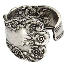 Silver Spoon Forget-Me-Nots Ring
