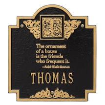 Personalized Ralph Waldo Emerson House Plaque