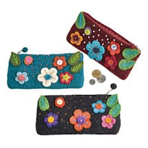 Beads and Blooms Zipper Pouches