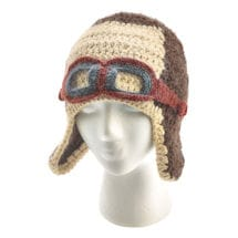 Knitted Aviator's Cap