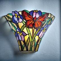 Art Glass Butterfly Wireless Sconce