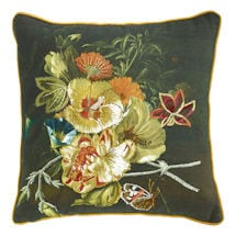 """Embroidered Floral Pillows - 18"""" x 18"""""""