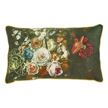 """Embroidered Floral Pillows - 24"""" x 14"""""""
