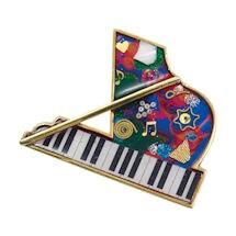 Piano Musical Instrument Pin