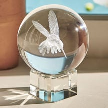 Glass Hummingbird Sphere