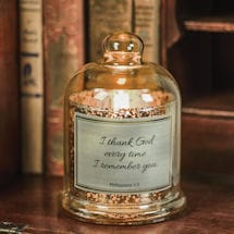 Remembrance Bell Jar and LED Candle