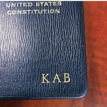 Leatherbound Pocket-Size US Constitution - With Initials