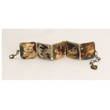 Victorian Cats Bracelet