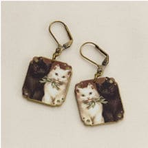 Victorian Cats Earrings