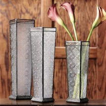 Art Glass Vase Trio