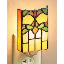 Art Deco Stained Glass Night Light