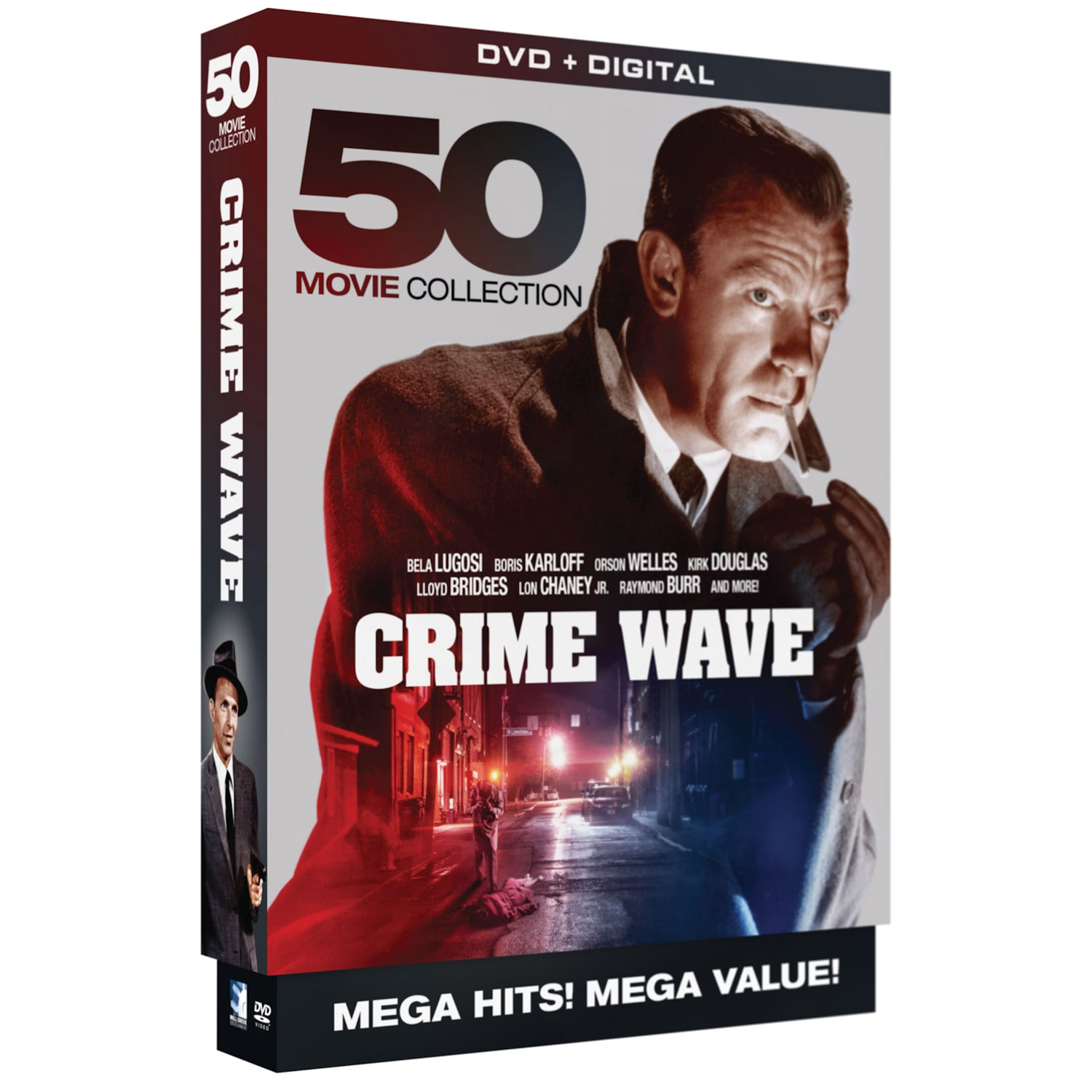 Details about Crime Wave - 50 Mystery Crime Film Noir Movies -10 DVD Boxed  Set Region 1 (USA)