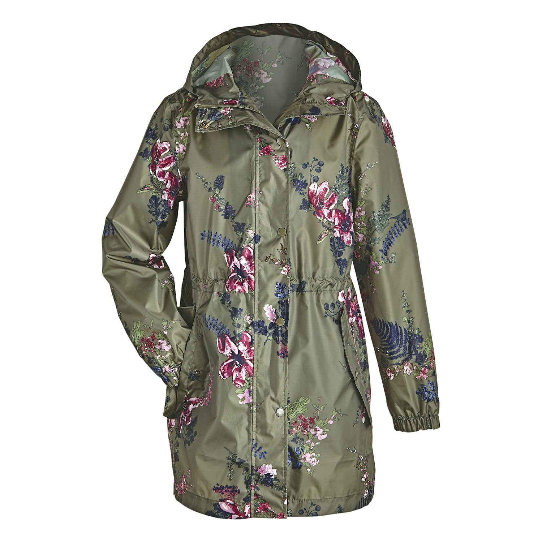 9c5e5d876 Joules Women s Floral Print Raincoat Rain Jacket Waterproof Anorak ...