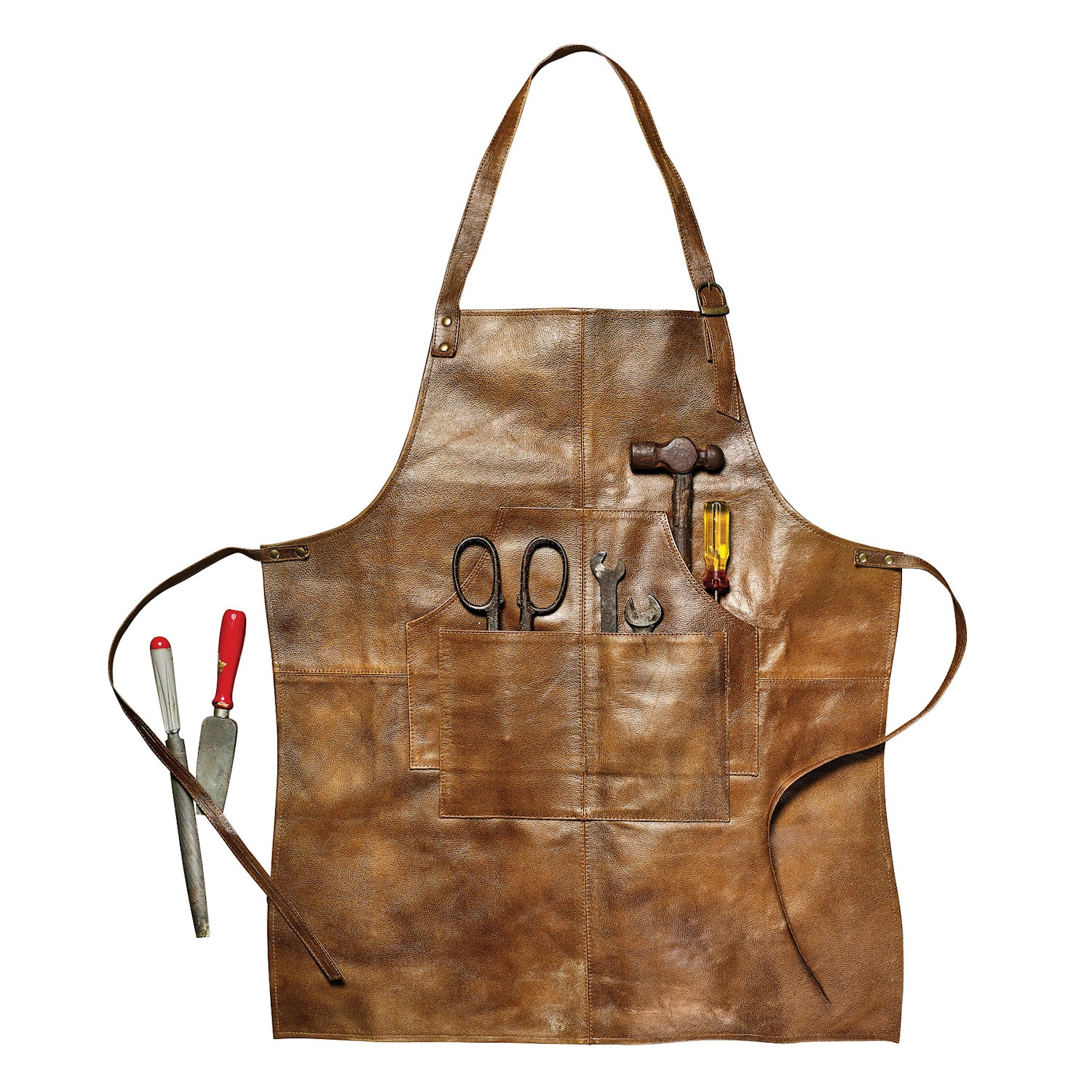 What on Earth Men's Leather Shop Work Kitchen Apron - 4 ...